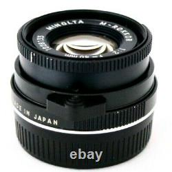 127 MINOLTA M Rokkor 40mm f/2 for Leica M Mount EXC- CL CLE Ship By DHL