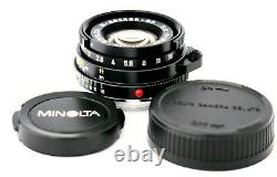 128 MINOLTA M Rokkor QF 40mm f/2 for Leica M Mount EXC- CL CLE Ship By DHL