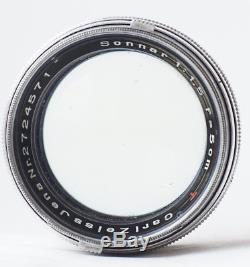 1941! Carl Zeiss Jena Sonnar f1.5 50mm T Lens Rare Leica L39 Mount #2724571