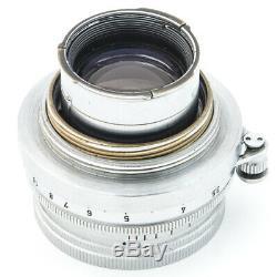 1951 Leica Leitz SUMMITAR f=5cm 50mm 12 M39/L39/LTM Screw Mount Lens + Caps