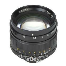 7Artisans Objectif à Mise au Point Manuelle Léger 50mm F/1.1 Pour Leica M Mount