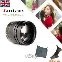 7 Artisans 75mm F1.25 Leica portrait lens M-mount for Leica camera (UK stock)