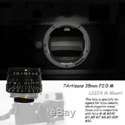 7artisans 35mm F2.0 Manual Fixed Lens for Leica M-Mount Cameras Leica M2 M3 M4-2
