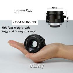 7artisans 35mm F/2 Lens For Leica M-Mount Camera M4-2 M5 M6 M7 M8 M9 M10 M240 ME