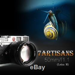 7artisans 50mm F1.1 Leica M Mount Fixed Lens for Leica M-Mount Cameras With Gift
