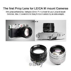 7artisans 50mm/f1.1 Fixed Lens Large Aperture for Leica M-mount Cameras Silver