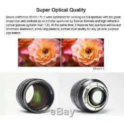 7artisans 50mm f/1.1 Manual focus Lens for Leica M L/M mount black M M8 M9 M262