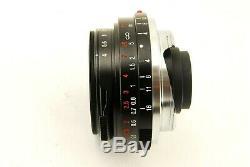 815 Voigtlander Color Skopar 21mm f/4 VM for Leica M Mount EXC+++ with HOOD