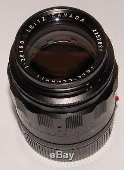 90mm Tele-Elmarit f/2.8 M-mount first version 1968 Leitz Leica Canada black