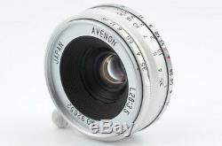 AVENON 28mm F3.5 L39 Silver withbox for Leica Mount Excellent from Japan 06-U02