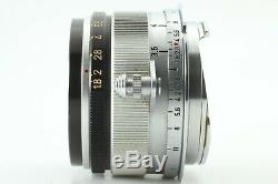 Almost MINT Canon 35mm f/1.8 Leica Screw Mount L39 LTM From JAPAN #497