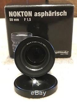 BOXED Voigtlander Nokton 50mm f/1.5 Aspherical Lens M Mount Leica M Mount Black