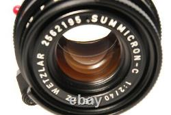 B V. Good Leica SUMMICRON-C 40mm f/2 Lens for M Mount CL CLE From JAPAN 6947