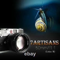 Big Sale! 7artisans 50mm F1.1 Leica M Mount Fixed Lens For Leica M240 M6 M7 M8 M9