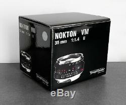 Brand New Voigtlander 35mm F1.4 Nokton Classic VM ii MC Lens, V2, Leica M Mount