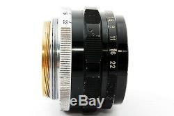 CANON 35mm F2 Leica Screw Mount LTM L39 Manual Focus Lens From JAPAN #451768