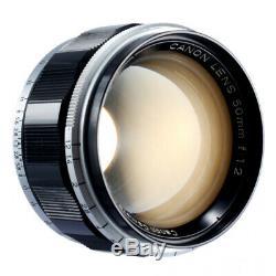 CANON 50mm F1.2 LENS LEICA 39mm SCREW MOUNT L39 M39 LTM / CLA'd / 180 DAY WRT