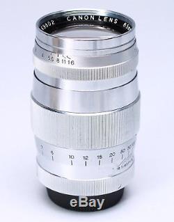 CANON RANGEFINDER 85MM F/1.9 LTM LEICA SCREW MOUNT M39 LENS With CAPS