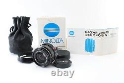 CLA'd N MINT in BOXMinolta M-Rokkor 28mm F/2.8 Leica M Mount for CL CLE Japan