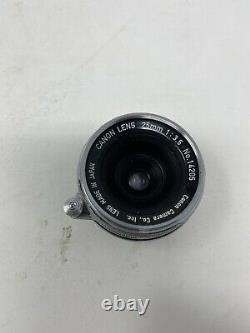 Canon 25mm 1 3.5 Lens LTM L39 Leica Screw Mount From JAPAN- VERY RARE