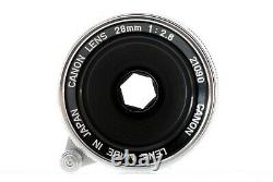 Canon 28mm f/2.8 Lens Leica Screw LTM L39 Mount withHood Excellent++ From Japan