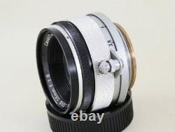 Canon 35mm F/1.8 Leica Screw Mount LTM 39 Lens. MINT-From Japan#1484