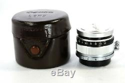 Canon 35mm F/1.8 Lens Leica Screw Mount LTM L39 withLeather case from Japan #728