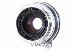 Canon 35mm F/2.8 Chrome Lens Leica Screw Mount LTM L39 from Japan 22049 Exc++