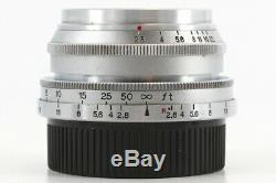 Canon 35mm F/2.8 Chrome Lens Leica Screw Mount LTM L39 from Japan Exc++