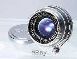 Canon 35mm F/2.8 Rangefinder Lens Leica Screw Mount Ltm M39 #22111