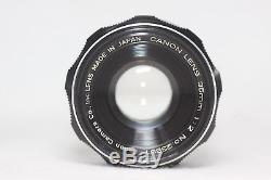 Canon 35mm F/2 Leica Screw Mount LTM L39 Lens Made In Japan