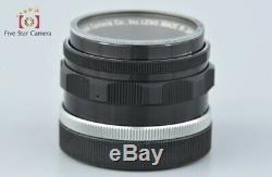 Canon 35mm f/2 L39 LTM Leica Thread Mount Lens