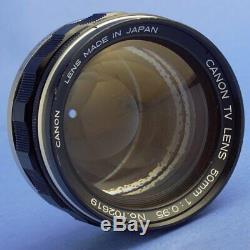 Canon 50mm 0.95 Rangefinder Lens Leica M Mount 6-Bit Coded