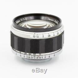 Canon 50mm f/1.2 LTM M39 Leica Mount Fast Standard Prime Lens