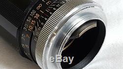 Canon 85mm f/1.9 Leica Screw Mount LTM M39 BLACK M PERFECT GLASS