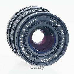 Canon Leica Leitz 35mm F2 Summicron Germany Manual Focus EOS EF Mount Lens