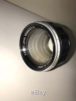 Canon Model 7 with 50mm f1.2 Lens Leica Screw Mount LTM STRAP NOT INCLUDED