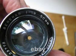 Canon Serenar 50mm f/1.9 Rangefinder Lens in Leica Screw Mount L39 M39 LTM