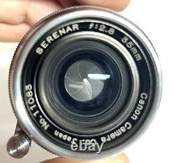 Canon Serenar Wide Angle Lens 35mm f2.8 Shoe Mount Viewfinder with Case L39 Leica