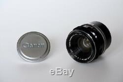 Canon lens 35mm 12 for Leica LTM L39 M39 screw mount