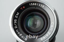 Carl Zeiss Biogon 35mm f/2 F2 T ZM Lens, Black MF, Leica M Mount, VM