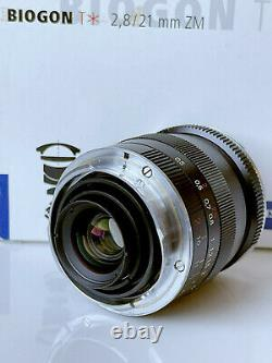 Carl Zeiss Biogon T 21 mm F/2.8 MF ZM lens Leica Leitz M mount