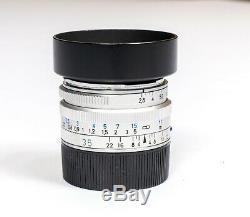 Carl Zeiss C Biogon T 35mm F/2.8 ZM for Leica M mount Silver Near Mint + Hood