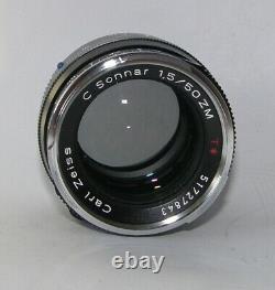 Carl Zeiss C Sonnar 1,5 / 50 mm ZM, T, Leica M mount, OVP, noch Garantie