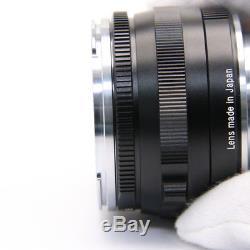 Carl Zeiss C Sonnar T 50mm F1.5 ZM Black (for Leica M mount) -Near Mint