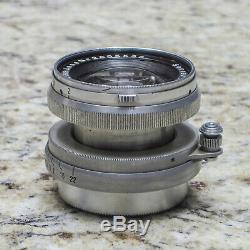 Carl Zeiss Jena 50mm f2 Sonnar Lens LTM, M39, Leitz Leica Screw Mount RARE