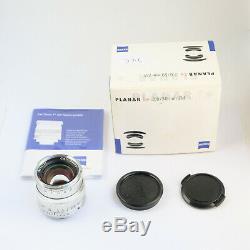 Carl Zeiss Planar 50mm f/2.0 ZM Leica M Mount MINT