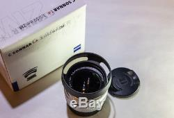 Carl Zeiss Sonnar 50mm 1.5 Zm (leica M Mount) Silver Boxed + Hood