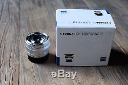 Carl Zeiss Sonnar C T 50mm F/1.5 ZM Lens For Leica M-Mount, Silver, Near MINT