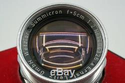 ERNST LEITZ SUMMICRON 5CM f2 RIGID WithGOGGLES M MOUNT TECH CLEANED & CHECKED